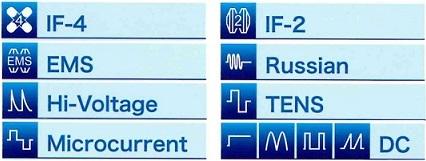 8種類の電気刺激モードを搭載