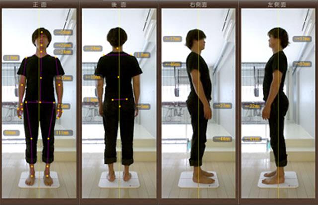 身体の関節ポイントを<br>センサーカメラが自動認識