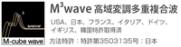 <span>エムキューブ波 M³ WAVE</span>